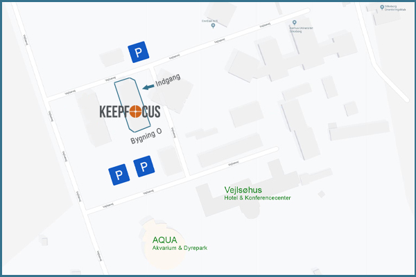 Map of the area, where the building in which KeepFocus resides, is highlighted